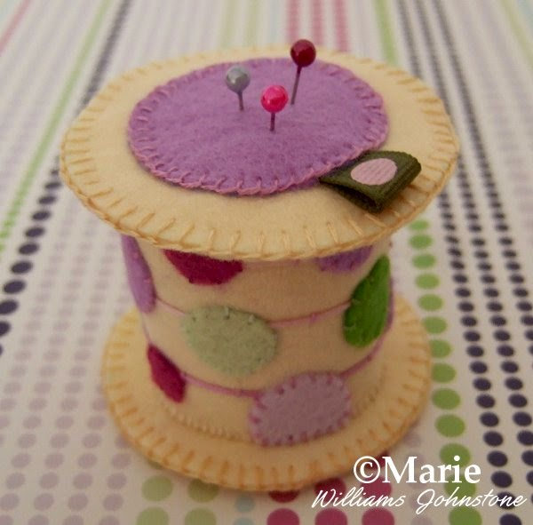 Felt spool handmade plush novelty pincushion