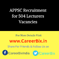APPSC Recruitment for 504 Lecturers Vacancies