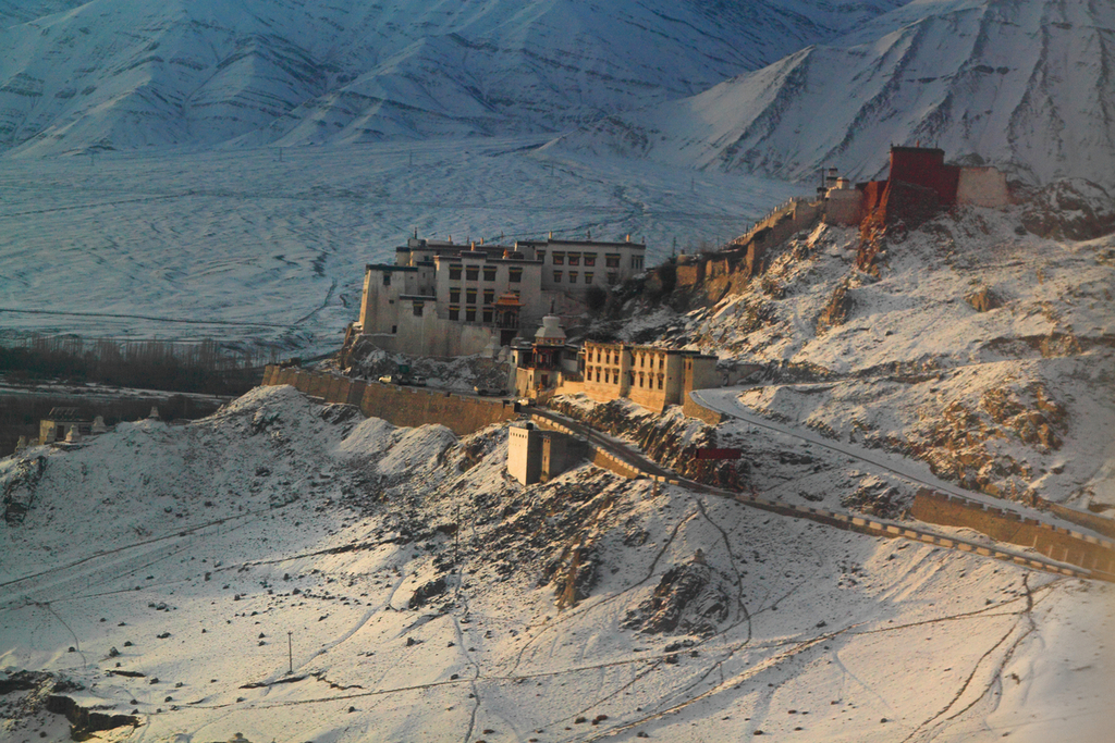 Leh Palace in Winter