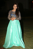 Nikki Galrani in Green Skirt  Top at Marakathamani music launch ~  Exclusive (145).JPG