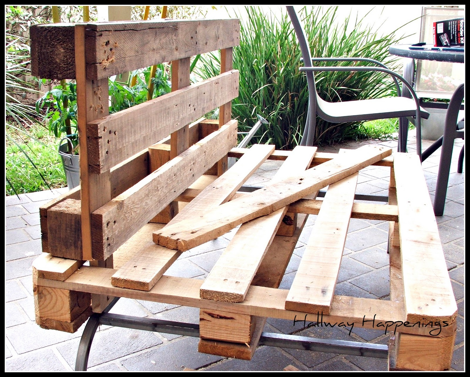 Hallway Happenings: Pallets Become Outdoor Furniture