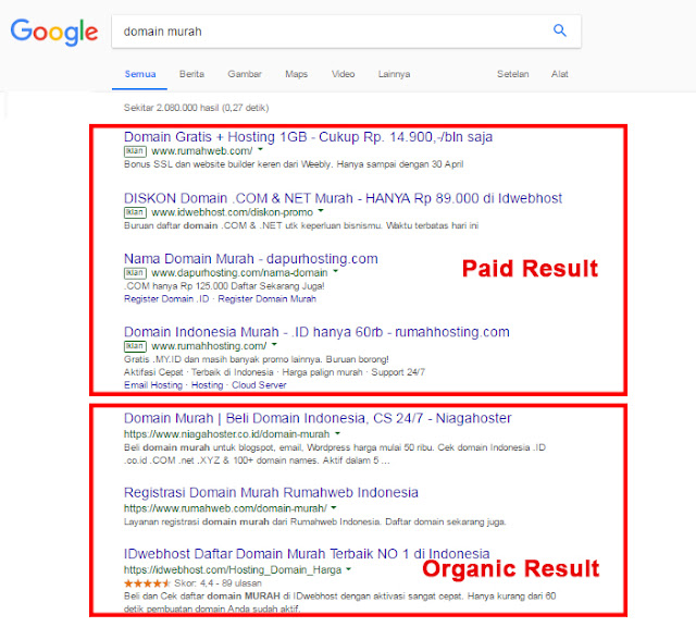 SERP atau Search Engine Result Page