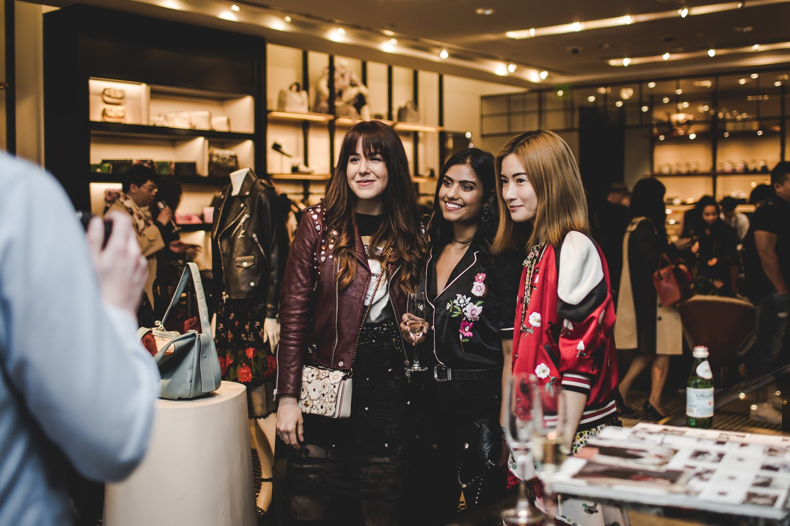 von vogue coach shopping event tea rose collection vancouver