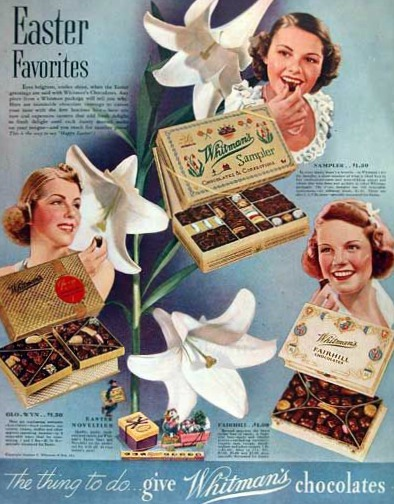 Dying for Chocolate: Retro Chocolate Ads: Happy Easter!