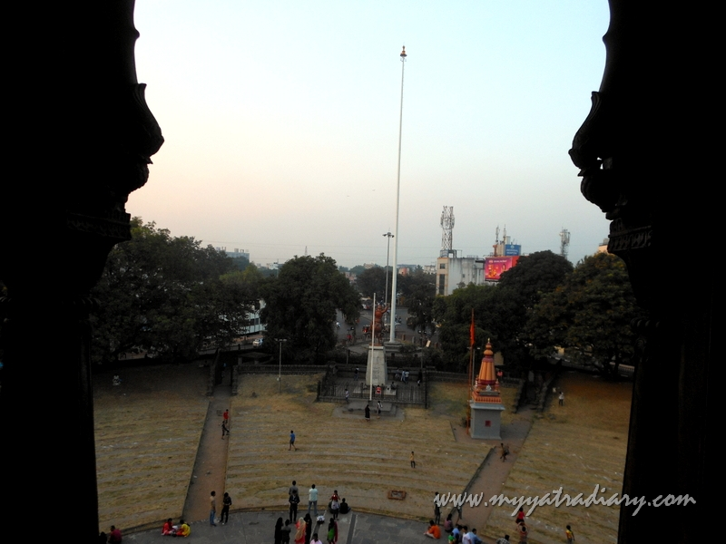 As seen from Nagarkhana above Dilli Darwaza at Shaniwar wada fort, Pune