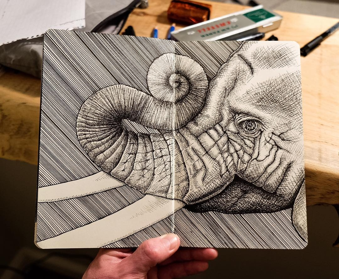 12-Salute-of-the-Elephant-mrc_artworks-Sketching-Inspirations-on-a-Moleskine-Notebook-www-designstack-co