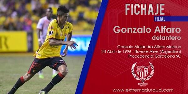 Oficial: El Extremadura ficha a Gonzalo Alfaro