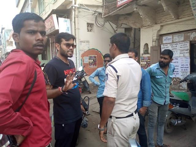अपर कलेक्टर के पुत्र पत्रकार नितिन वर्मा के साथ कि गई अभद्रता