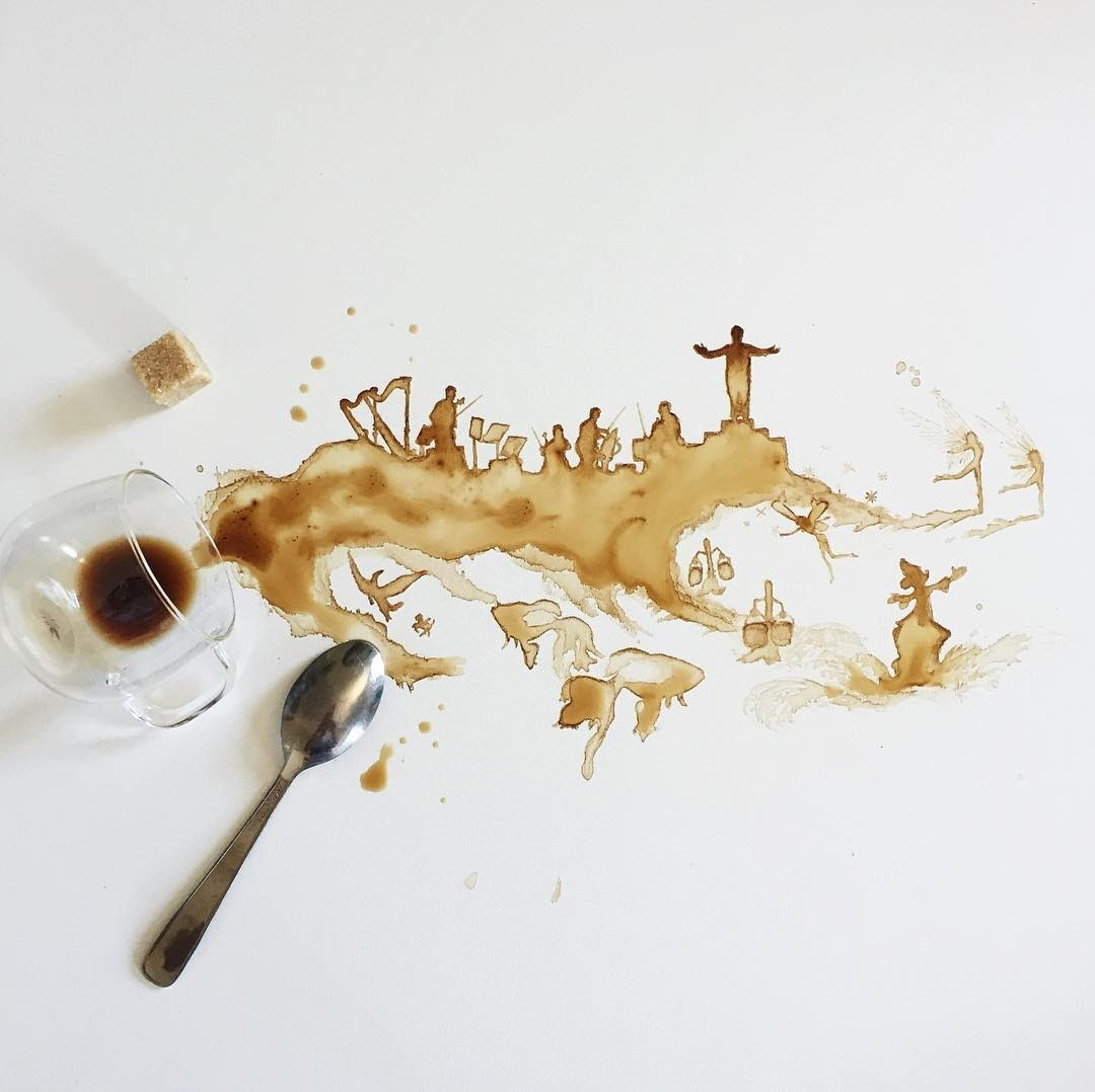 13-Lil-Coffee-Concert-Fantasia-Giulia-Bernardelli-Coffee-Cup-Paintings-or-Drawings-www-designstack-co