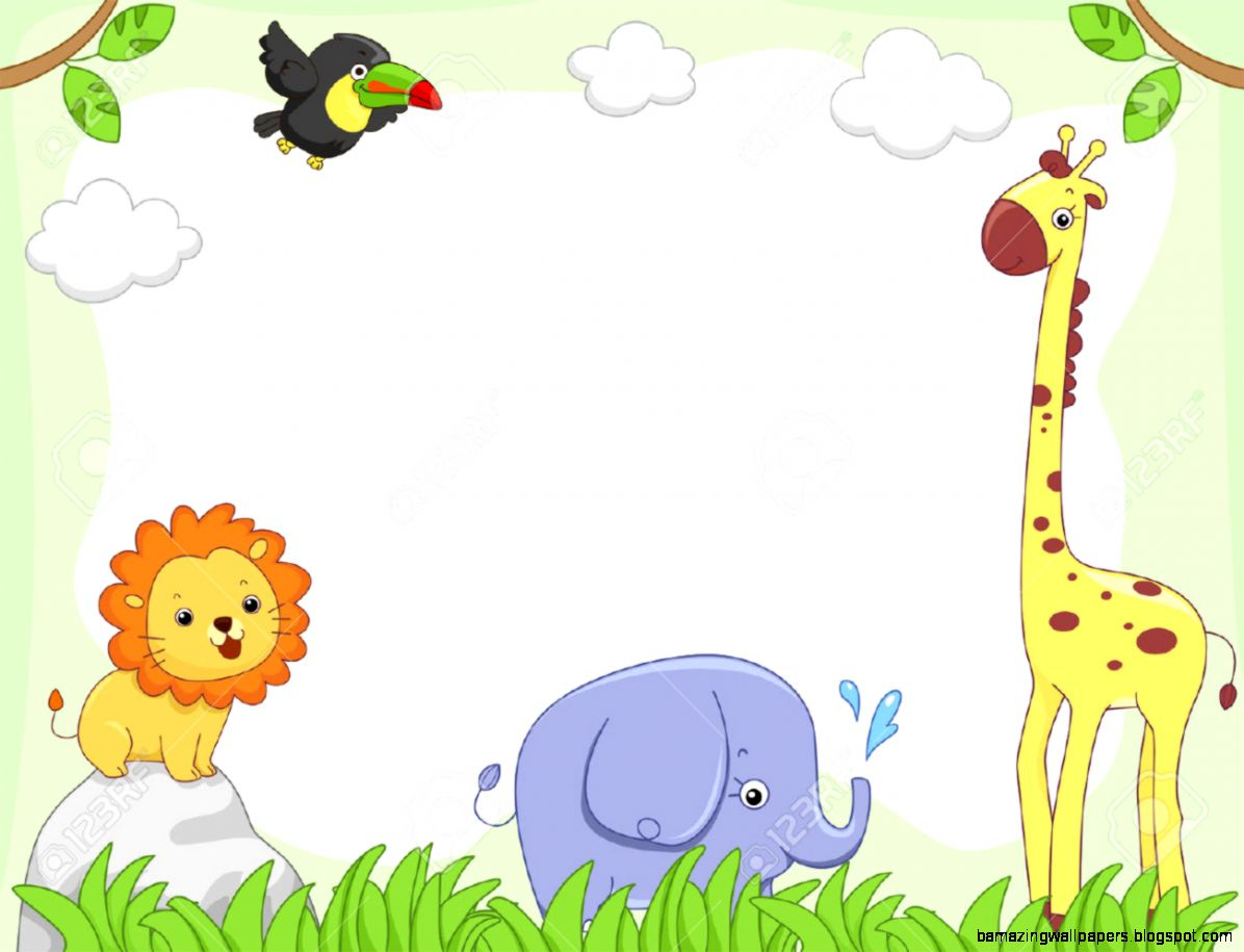 Zoo Animals Clip Art Border Baby Animal Clipart Borders