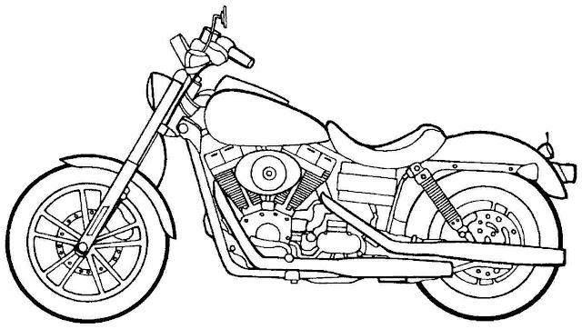 motos para colorear online