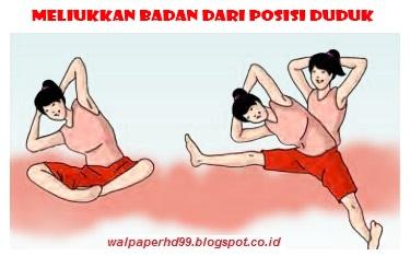 Gambar Meliukkan badan dari posisi duduk