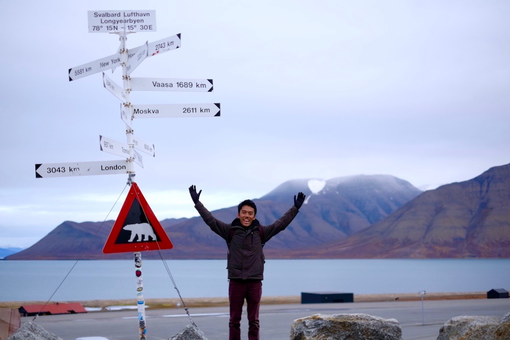Journey to Desert and Arctic - Marker Sign at Svalbard Airport