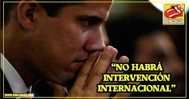 Juan Guaidó aseguró que no hay posibilidad de una Intervención Internacional