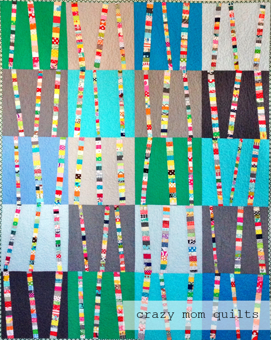 Crazy Mom Quilts Bright Birch Trees 3 A Completed Quilt