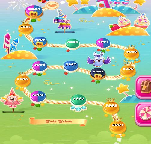 Candy Crush Saga level 5991-6005
