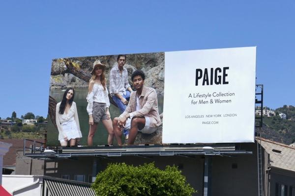 Paige lifestyle SS18 billboard