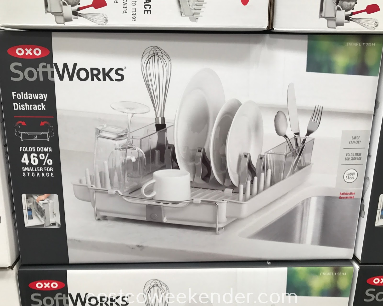 Have a place to dry your dishes with the Oxo SoftWorks Foldaway Dishrack