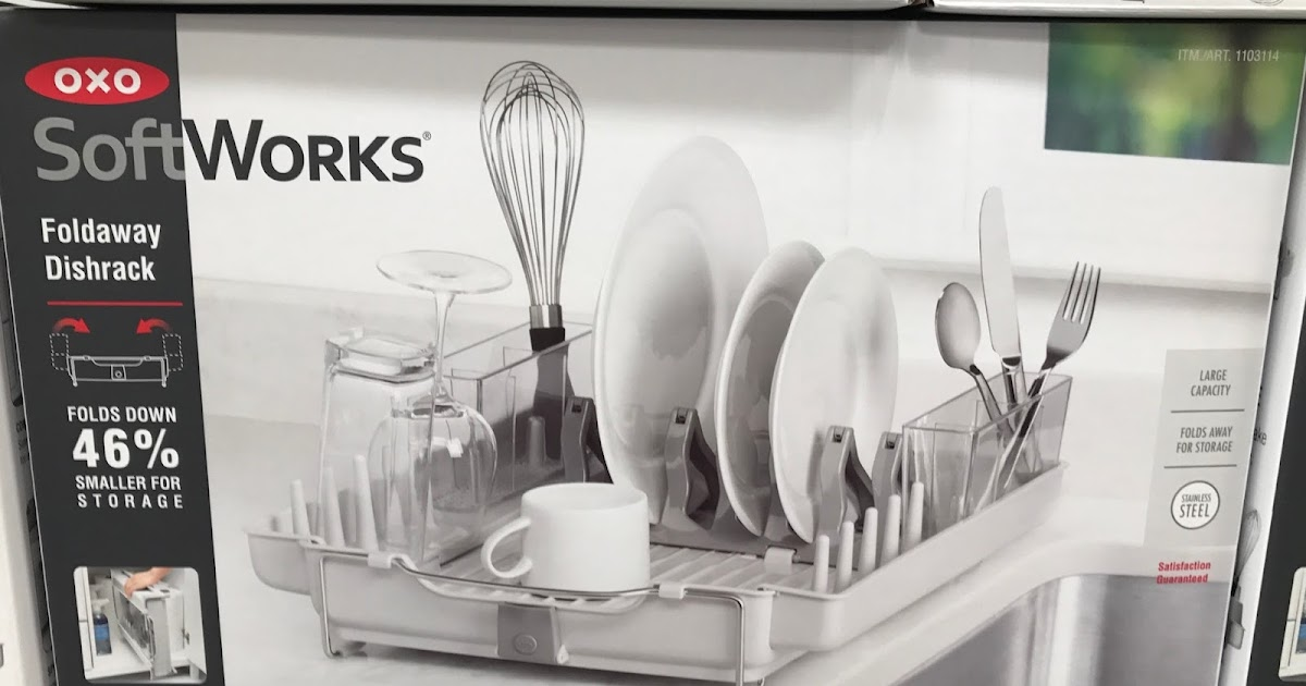 Oxo Kitchen Utensils Ikea Cabinets Cost Softworks Foldaway Dishrack | Costco Weekender