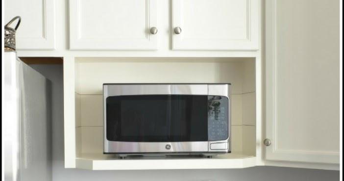 building a microwave shelf the