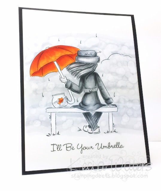 Sassy Cheryl's, Kecia Waters, Copic markers, umbrella, goldfish