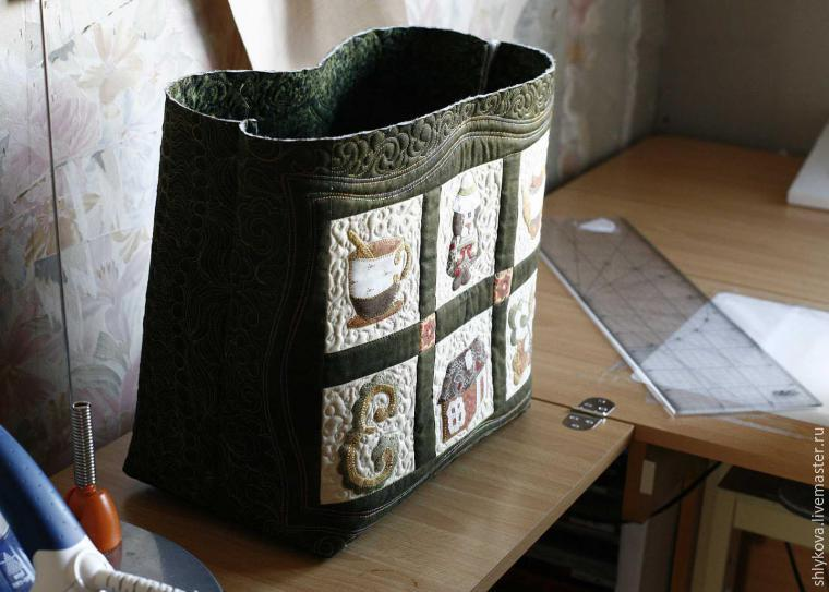 Create original textile bag in the technique of patchwork. DIY tutorial in pictures. Sewing Bag - Quilting and Patchwork