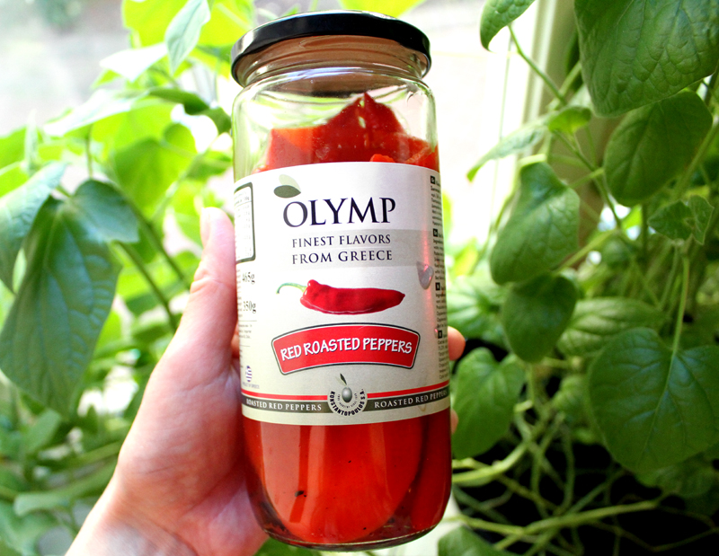Oppskrift Olymp Red Roasted Peppers Grillet Paprika Mettende Salat Dressing Sunnere Lunsj Frokost