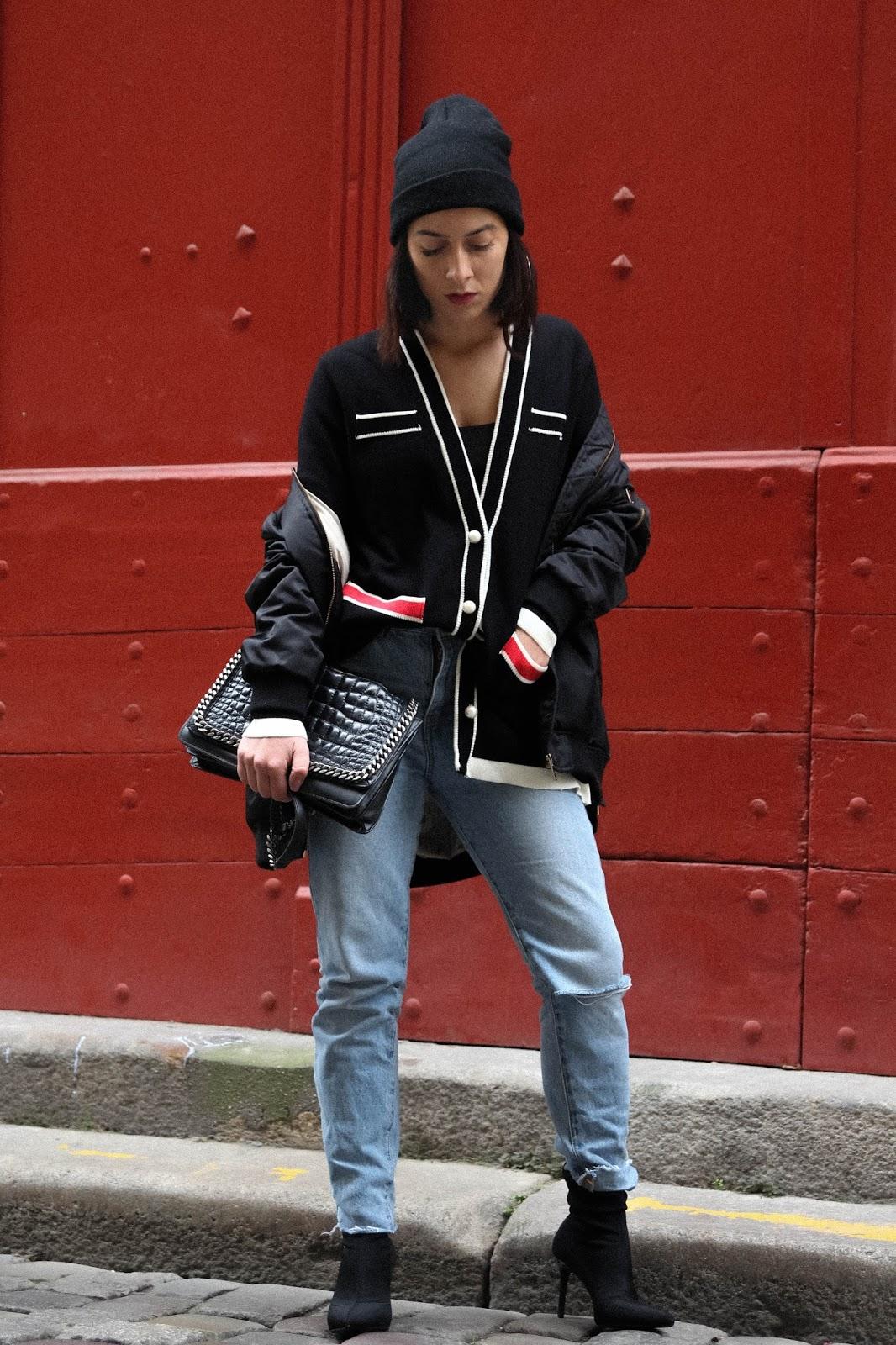 look gilet automne hiver 2017 et bottines chaussettes