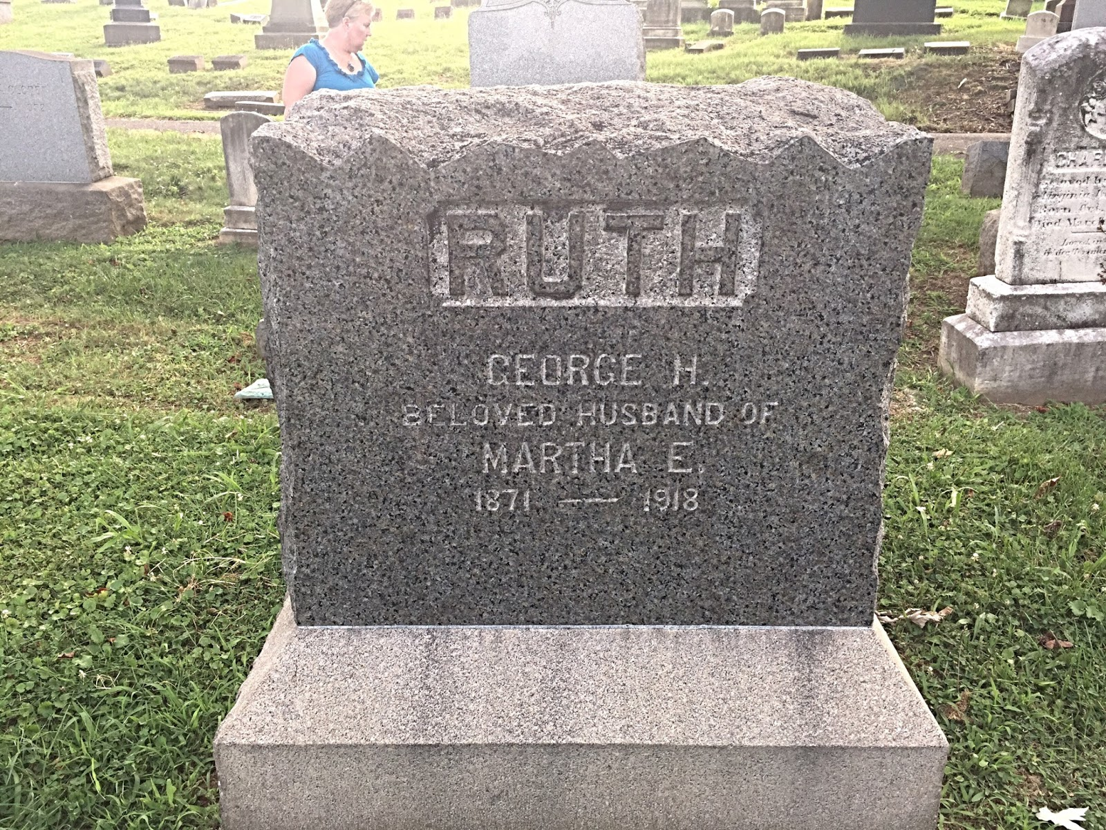 epiphany in baltimore  babe ruth s father s grave is marked as the husband of martha but she s buried next to her last husband george frederick strohrmann at western cemetery