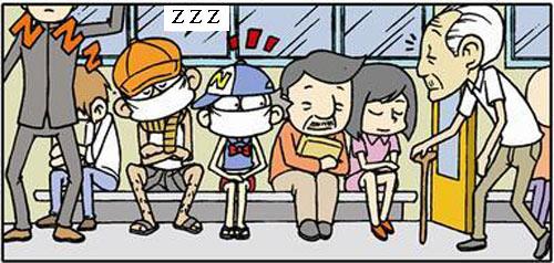 Truyện tranh ngắn: Mang khẩu trang khi đi xe buýt