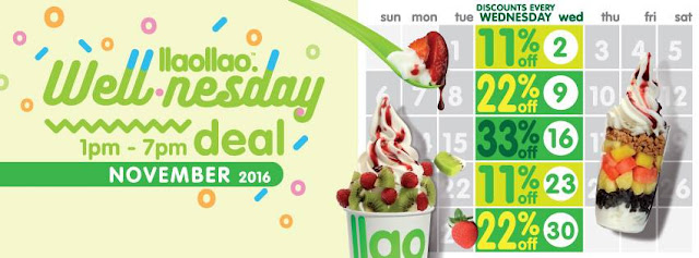 llaollao Malaysia Discount Promo Every Wednesday