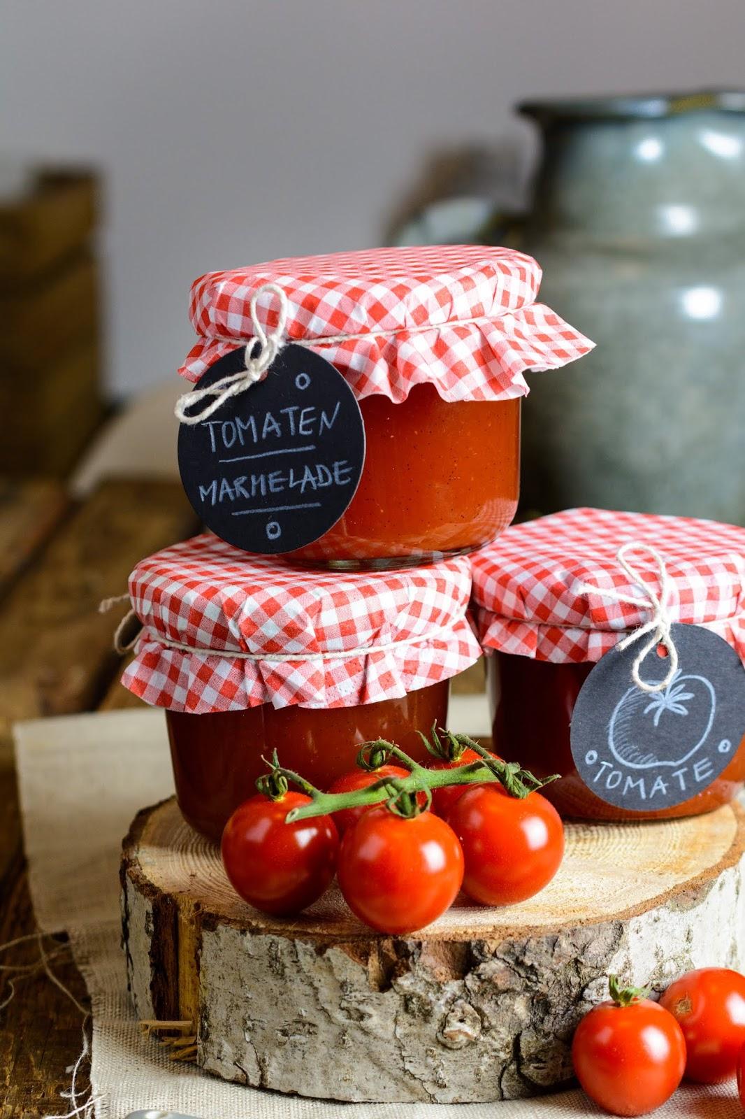 Rezept für Süße Tomatenmarmelade mit Ingwer und Vanille