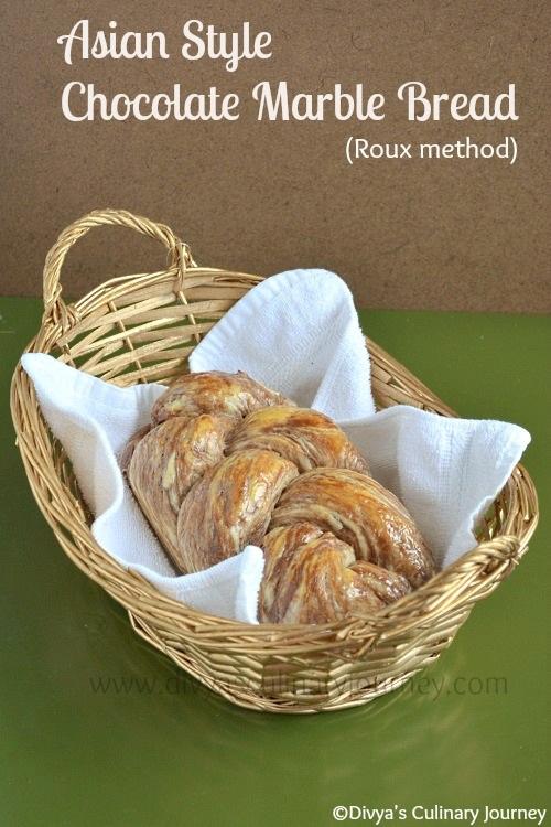 Chocolate Marble Bread Recipe using Tangzhong Method