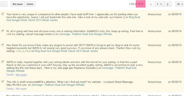 komen spam pada blog