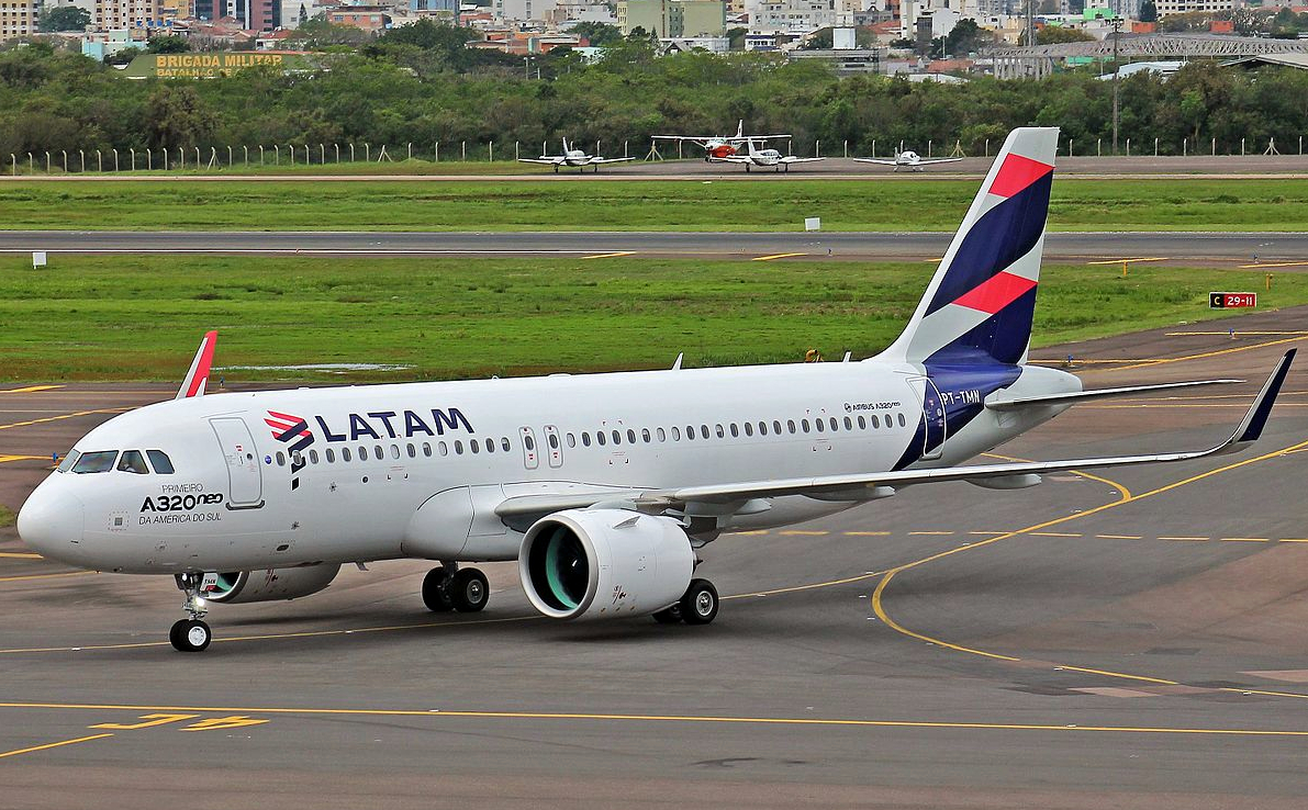 LATAM Brazil Airbus A320neo Ready To Takeoff