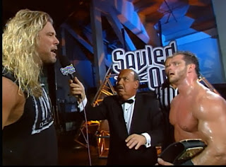 WCW Souled Out 2000 - Kevin Nash confronted Chris Benoit after Benoit's world title victory