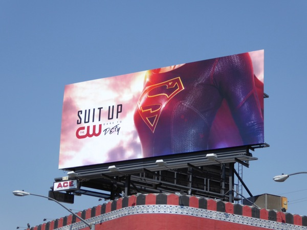 Supergirl season 2 Suit Up billboard