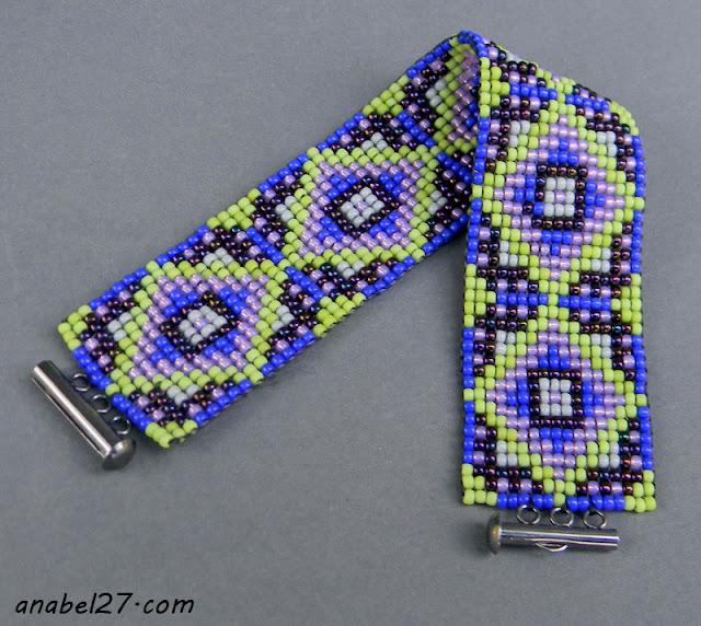 украшения из бисера браслет с узором украина