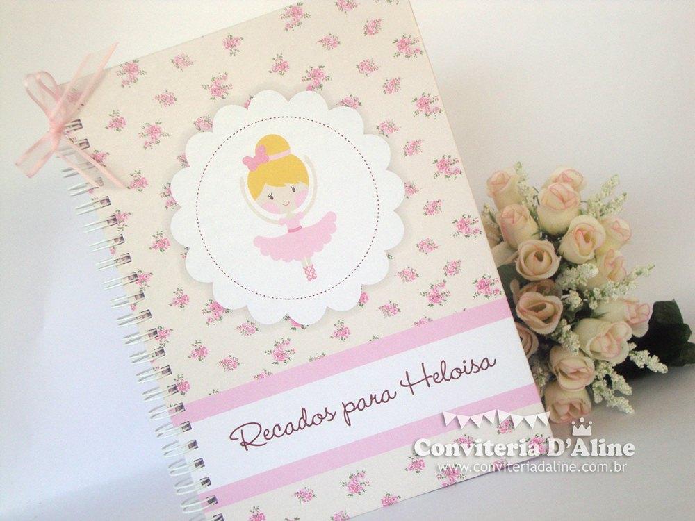 caderno de recados bailarina provençal