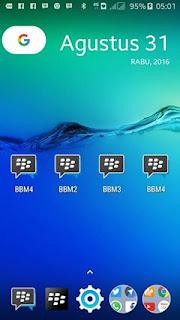 Multi BBM 1 + BBM 2 + BBM 3 + BBM 4 Mod v3.0.1.25 Apk Terbaru Gratis