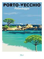 """Affiche """"Marcel"""" Palombaggia - Porto-Vecchio"""