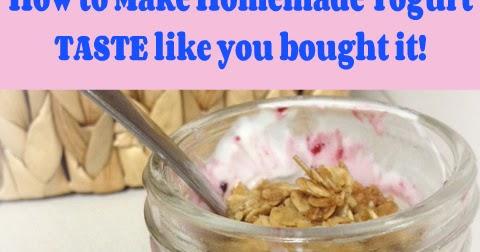 how to make plain yogurt taste like vanilla
