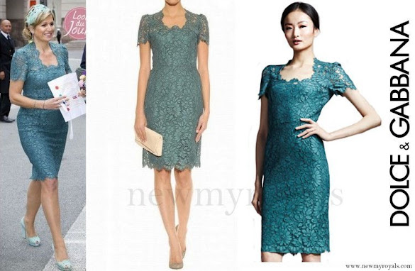 Queen Maxima wore Dolce and Gabbana Lace Dress