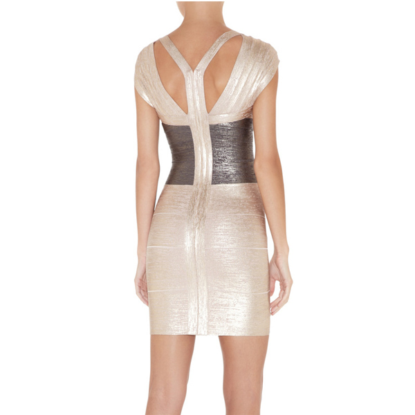 2e1e6ca5583f new website for your fashion  Herve Leger Metallic Colorblock ...