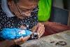 Kerajinan Tangan Ikat Cincin Dari Bahan Batu dan Kayu