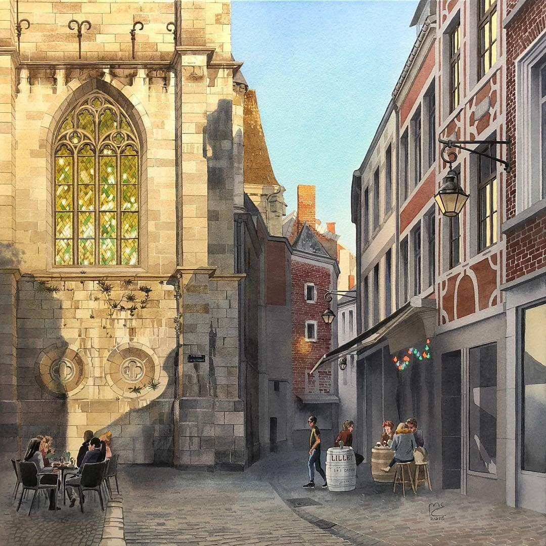 01-Namur-Belgium-Eleanor-Mill-European-Architecture-in-Watercolor-Paintings-www-designstack-co