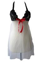 Alfacart Ruby Lingerie Dress Sexy Simple Hitam Putih ANDHIMIND