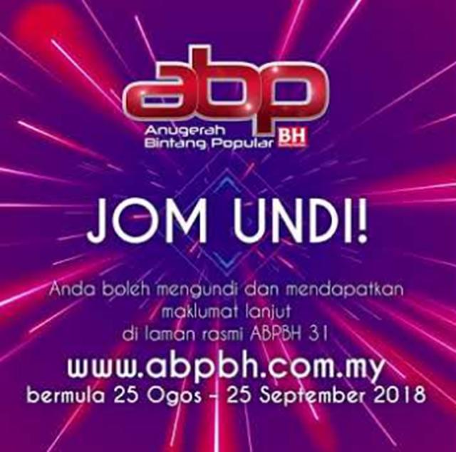 Jom Undi ABPBH (Anugerah Bintang Popular Berita Harian) Yang Ke 31