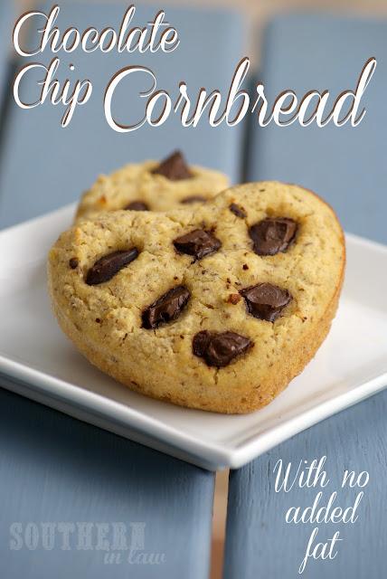 Chocolate Chip Cornbread Muffins Recipe - Gluten Free, Low Fat, Healthy