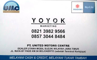 INFORMASI KONTAK MARKETING SUZUKI MOJOKERTO